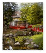 Architecture - Japan - Tranquil Moments  Fleece Blanket