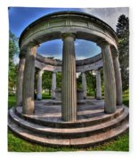 Architecture Of Forest Lawn  Fleece Blanket