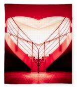 architecture's valentine - redI Fleece Blanket
