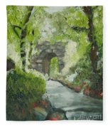 Archway In Central Park Fleece Blanket