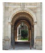 Archway To Courtyard Fleece Blanket