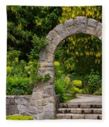 Archway To The Secret Garden Fleece Blanket