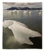 Arctic Ice Floe Fleece Blanket