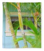 Areca Palms At The Window Fleece Blanket