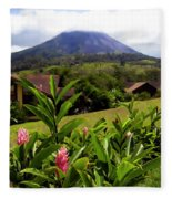 Arenal Costa Rica Fleece Blanket