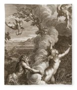 Arethusa Pursued By Alpheus And Turned Fleece Blanket