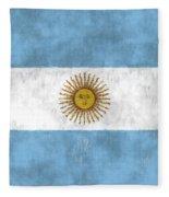 Argentina Flag Fleece Blanket