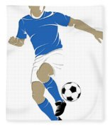Argentina Soccer Player1 Fleece Blanket