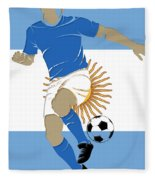 Argentina Soccer Player2 Fleece Blanket