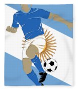 Argentina Soccer Player3 Fleece Blanket