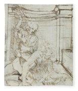 Aristotle And Phyllis Fleece Blanket
