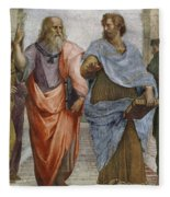 Aristotle And Plato Detail Of School Of Athens Fleece Blanket