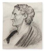 Aristotle From Crabbes Historical Dictionary Fleece Blanket
