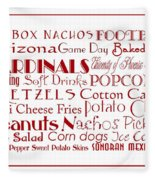 Arizona Cardinals Game Day Food 3 Fleece Blanket