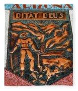 Arizona Ditat Deus Fleece Blanket