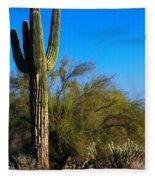 Arizona Saguaro Fleece Blanket