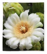 Arizona State Flower The Saguaro Blossom Fleece Blanket