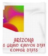 Arizona State Map Collection 2 Fleece Blanket