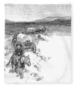 Arizona Tombstone, 1883 Fleece Blanket