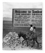 Arizona Tombstone, 1937 Fleece Blanket