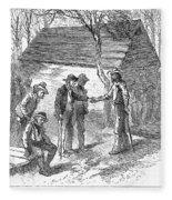 Arkansas Hot Springs, 1878 Fleece Blanket