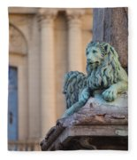 Arles Place De La Republique Fleece Blanket
