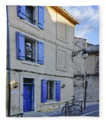 Arles With Bicycle And Moai Dsc01802   Fleece Blanket