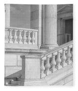 Arlington Memorial Amphitheater  Bw Fleece Blanket