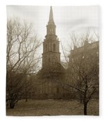 Arlington Street Church Unitarian Universalist Boston Massachusetts Circa 1900 Fleece Blanket