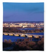 Arlington, Va - Wash D.c. - Panoramic Fleece Blanket
