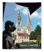Armor And Chartres Cathedral Fleece Blanket