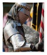 Armored Joust Knight Fleece Blanket
