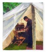 Army - Civil War Officer's Tent Fleece Blanket