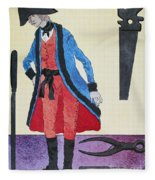 Army Surgeon, C1800 Fleece Blanket