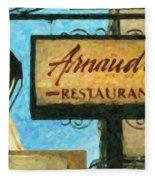 Arnauds New Orleans_oil Digital Art Fleece Blanket