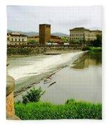 Arno River 1 Fleece Blanket