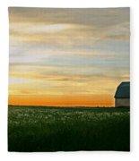 Aroostook Sunset Fleece Blanket