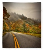 Around The Bend Clouds Along The Blue Ridge Parkway Fleece Blanket