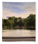 Around The Central Park Pond Fleece Blanket