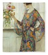 Arranging Flowers Fleece Blanket
