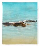Arrival - Blue Heron - Wildlife Fleece Blanket