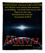 Arrival Faux Movie Poster Fleece Blanket