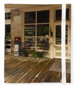 Arrow Rock Mo Post Office Dsc00567 Fleece Blanket