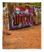 Art Along The Cheakamus River Fleece Blanket