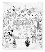 Art Attack Fleece Blanket