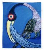 Art Bird Fleece Blanket