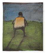 art critic relieves himself on Rothko's field Fleece Blanket