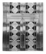Art Deco Door 2 Fleece Blanket