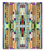 Art Deco Stained Glass 2 Fleece Blanket