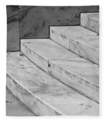 Art Deco Steps In Black And White Fleece Blanket